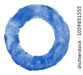 navy blue watercolor round... | Shutterstock . vector #1059851555