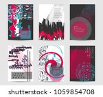 abstract backgrounds set with... | Shutterstock .eps vector #1059854708