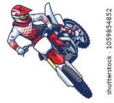 motocross rider doing jumping... | Shutterstock .eps vector #1059854852