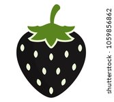 strawberry icon vector. black... | Shutterstock .eps vector #1059856862