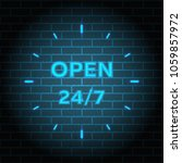 24 7 service open 24h hours a... | Shutterstock .eps vector #1059857972