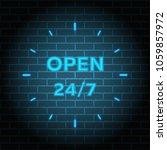 24 7 service open 24h hours a... | Shutterstock .eps vector #1059857972