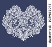 lace flowers decoration element   Shutterstock .eps vector #1059858095