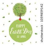 happy earth day. vector...   Shutterstock .eps vector #1059859142