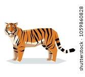 flat geometric tiger | Shutterstock .eps vector #1059860828