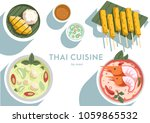 thai cuisine and spicy dishes | Shutterstock .eps vector #1059865532
