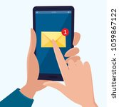 new email notification on... | Shutterstock .eps vector #1059867122