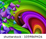 abstract vector background with ... | Shutterstock .eps vector #1059869426