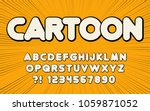 comic font fun cartoon design... | Shutterstock .eps vector #1059871052