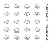 computer cloud related icons ... | Shutterstock .eps vector #1059875042