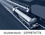 gas or oil truck on highway... | Shutterstock . vector #1059876776