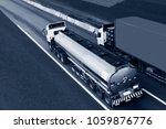gas or oil truck on highway... | Shutterstock . vector #1059876776