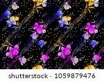 seamless floral design | Shutterstock . vector #1059879476