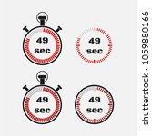 timer 49 seconds on gray... | Shutterstock .eps vector #1059880166