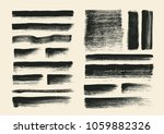 painting brushes set. vector... | Shutterstock .eps vector #1059882326