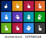 touch pad gestures icon series... | Shutterstock .eps vector #105988268