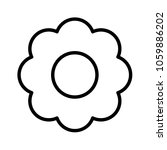 flower vector icon. floral sign....