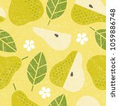 seamless pattern. pear juicy... | Shutterstock .eps vector #1059886748