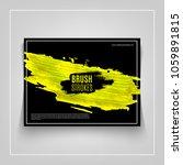 yellow brushstroke on black... | Shutterstock .eps vector #1059891815