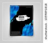 blue brushstroke on black... | Shutterstock .eps vector #1059891818