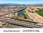 aerial view looking west from... | Shutterstock . vector #1059893786