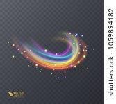 colorful light  neon effect.... | Shutterstock .eps vector #1059894182