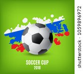 flag of russia and ball. soccer ... | Shutterstock .eps vector #1059896972