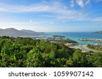 aerial view on the coastline of ... | Shutterstock . vector #1059907142