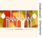 illustration of ramadan kareem... | Shutterstock .eps vector #1059908942