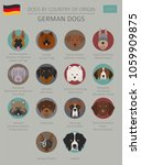 dogs by country of origin.... | Shutterstock .eps vector #1059909875