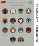 dogs by country of origin.... | Shutterstock .eps vector #1059909878