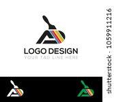 paint company logo design... | Shutterstock .eps vector #1059911216