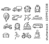 icons of transportation set... | Shutterstock .eps vector #1059912338