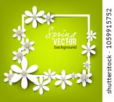beautiful background with white ... | Shutterstock .eps vector #1059915752