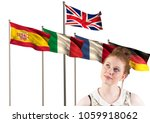 main language flags behind... | Shutterstock . vector #1059918062