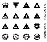 solid vector icon set   airport ... | Shutterstock .eps vector #1059922172
