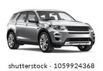 Stock photo  d illustration of silver suv car on white background 1059924368