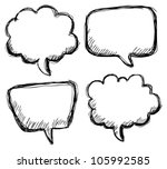hand drawn bubble speech | Shutterstock .eps vector #105992585