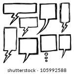 hand drawn bubble speech | Shutterstock .eps vector #105992588
