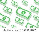 money flow seamless pattern.... | Shutterstock .eps vector #1059927872