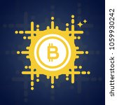 bitcoin. crypto currency symbol.... | Shutterstock .eps vector #1059930242