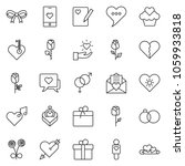 thin line icon set   rose... | Shutterstock .eps vector #1059933818