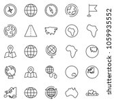 thin line icon set   around the ... | Shutterstock .eps vector #1059935552