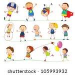 illustration of simple kids... | Shutterstock . vector #105993932