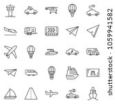 thin line icon set   paper... | Shutterstock .eps vector #1059941582