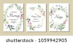 botanic card with wild flowers ... | Shutterstock .eps vector #1059942905
