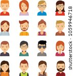 flat people vector | Shutterstock .eps vector #1059946718