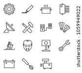 flat vector icon set   gear... | Shutterstock .eps vector #1059949022
