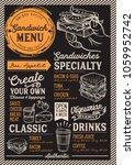 sandwich restaurant menu.... | Shutterstock .eps vector #1059952742
