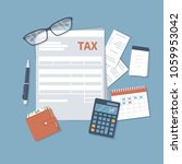 tax payment. government  state... | Shutterstock .eps vector #1059953042